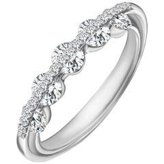 Modern Gold White Diamond Ring, Alternative Bridal Wedding