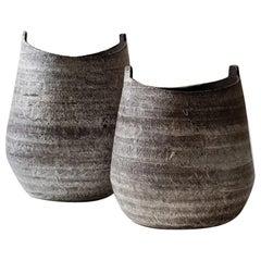 """Modern Greek Vessels """"Sculpture Vase"""" Set"""
