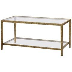 Modern Hammered Rectangular Coffee Table