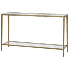 Modern Hammered Rectangular Console Table