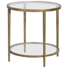 Modern Hammered Round Side Table