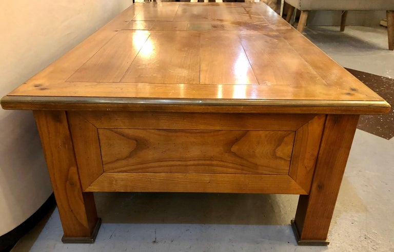 Modern Handmade Coffee Table, Dowel Construction with Opposing Drawers For Sale 4