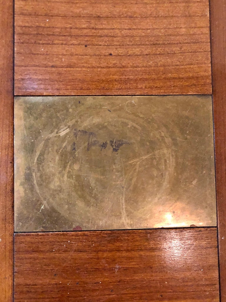 Modern Handmade Coffee Table, Dowel Construction with Opposing Drawers For Sale 6