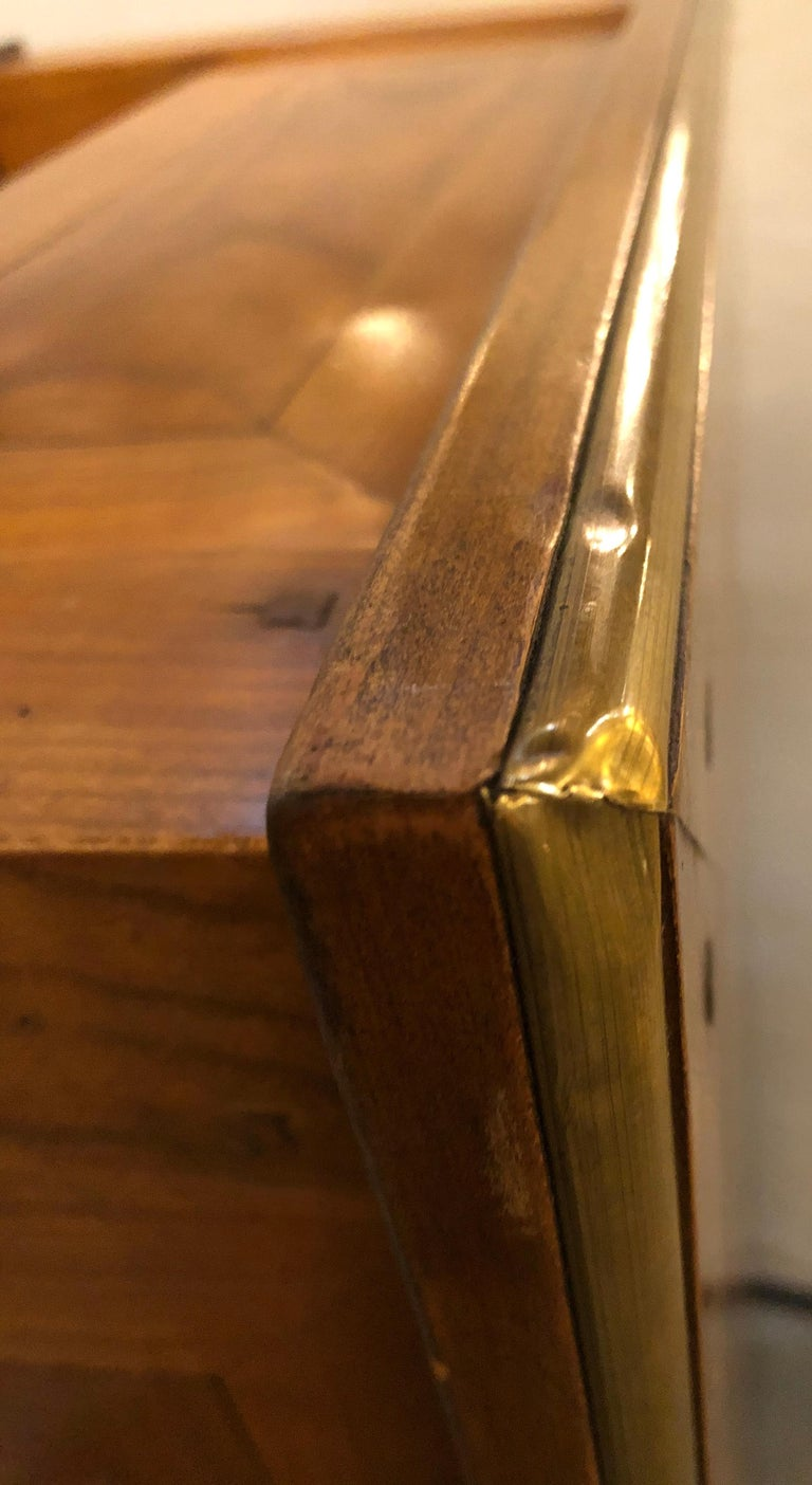 Modern Handmade Coffee Table, Dowel Construction with Opposing Drawers For Sale 7