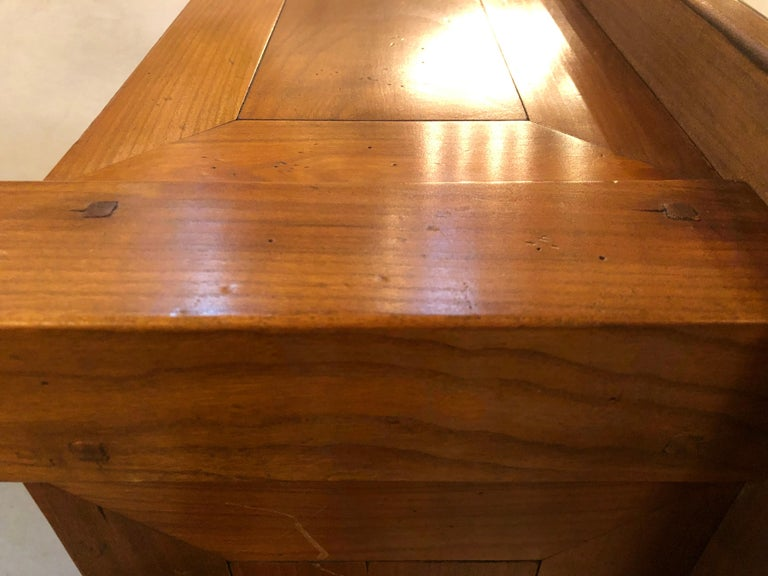 Modern Handmade Coffee Table, Dowel Construction with Opposing Drawers For Sale 8