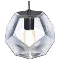 Modern Handmade Glass Lighting - Hedron Series Pendant in Clear, Customizable