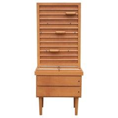 Modern Hermès Style Two-Drawer Display Stand or Adjustable Rack