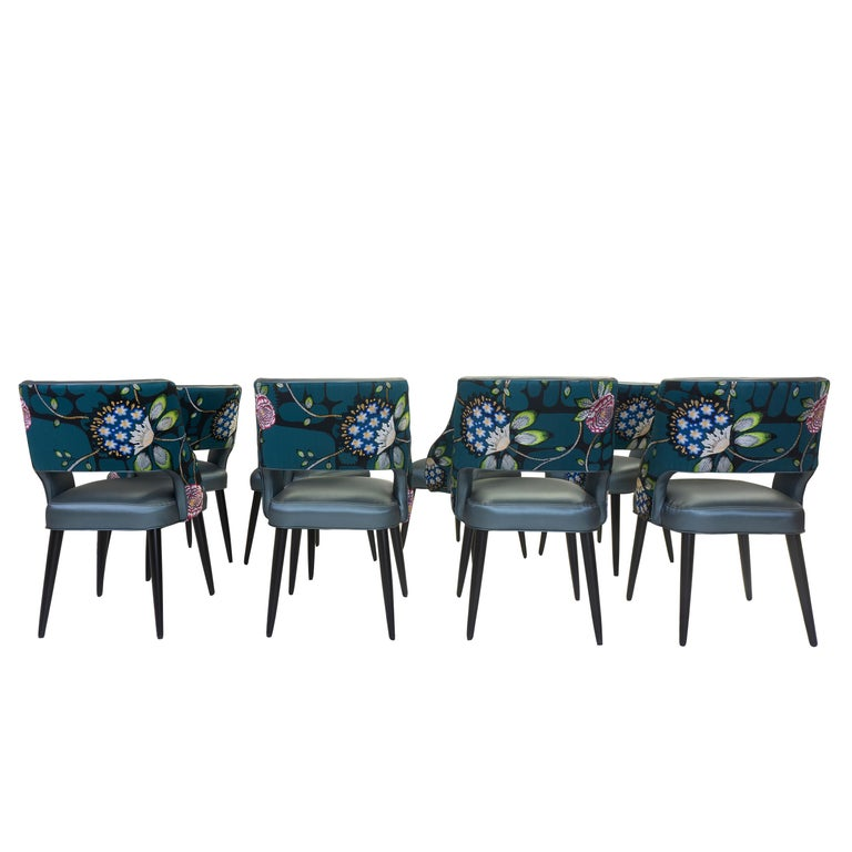Curvy High Back Dining Room Chairs For Sale 4