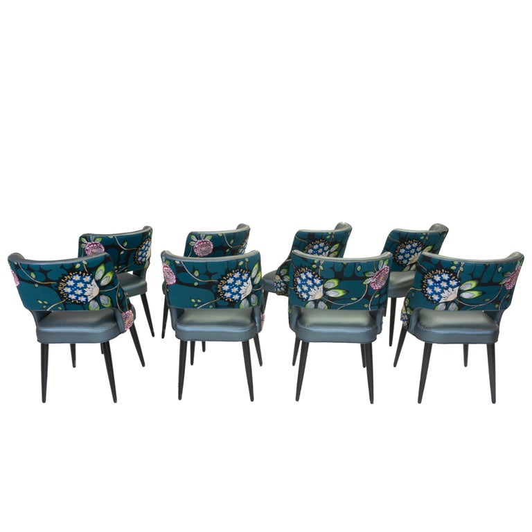 Curvy High Back Dining Room Chairs For Sale 5