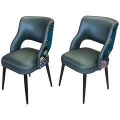 Curvy High Back Dining Room Chairs