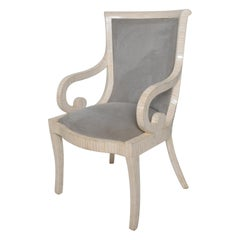 Modern Hollywood Enrique Garcel Karl Springer Bone Tile Chair