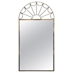 Modern Hollywood Regency Golden Brass Arch Mirror
