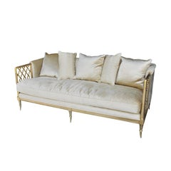 Modern Hollywood Regency Style Sofa By Caracole