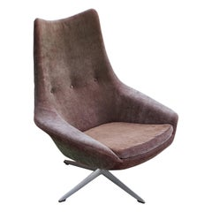 Modern Danish H.W. Klein Swivel  Lounge Chair for Bramin Møbler with Star Base