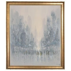 Modern Impressionism Art Abstract Painting Landscape Oil Canvas Signed