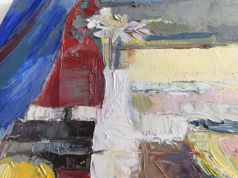 Modern Impressionist Still Life Painting For Sale 6