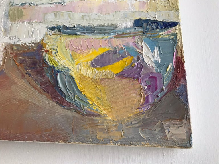 Canvas Modern Impressionist Still Life Painting For Sale