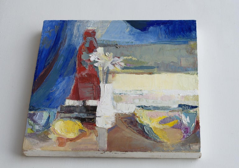 Painted Modern Impressionist Still Life Painting For Sale