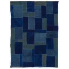 Modern Indian Flat-Weave Rug