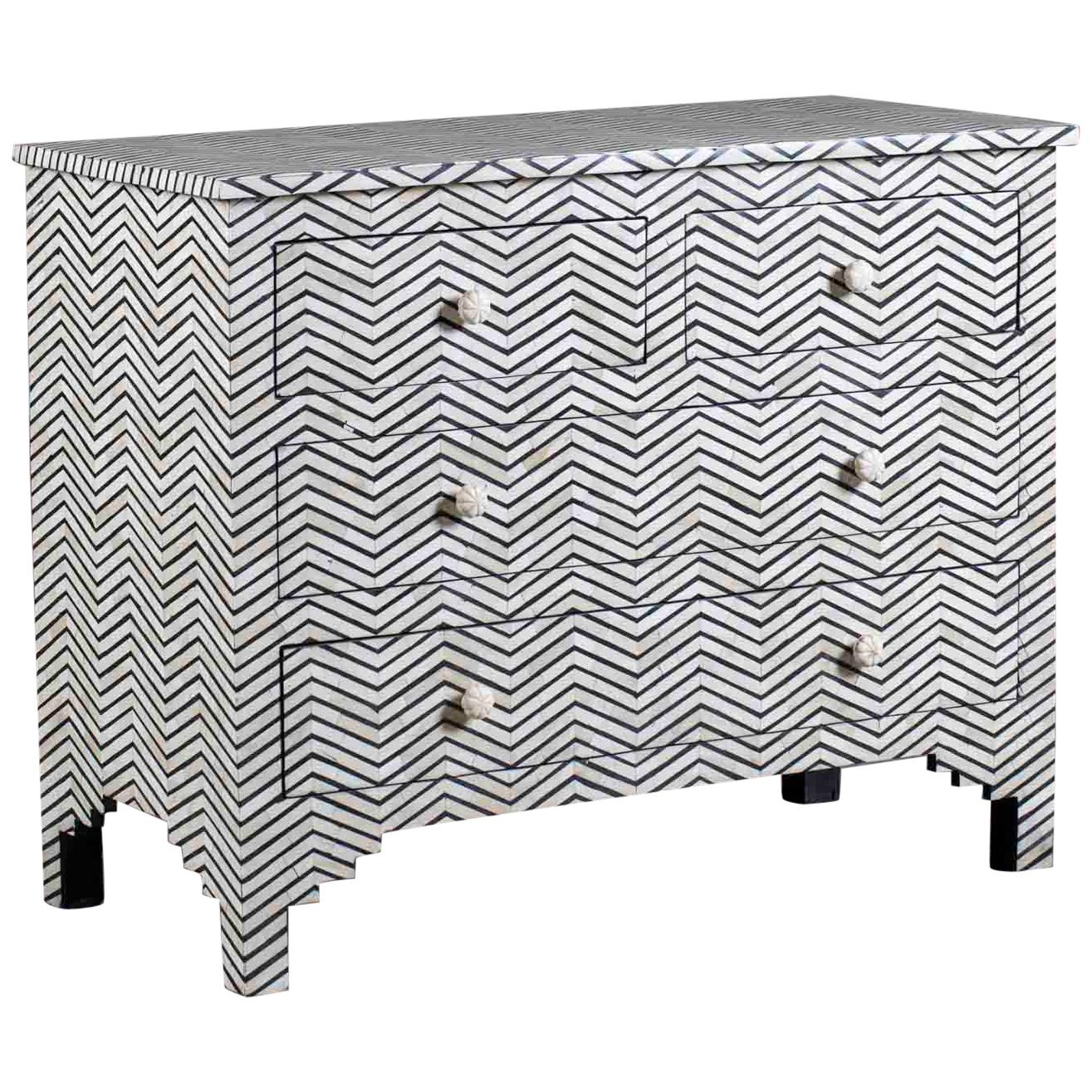modern indian inlaid bone chest of drawers from india at 1stdibs Furniture Redo