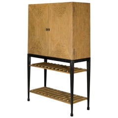 Modern Industrial Bar Cabinet