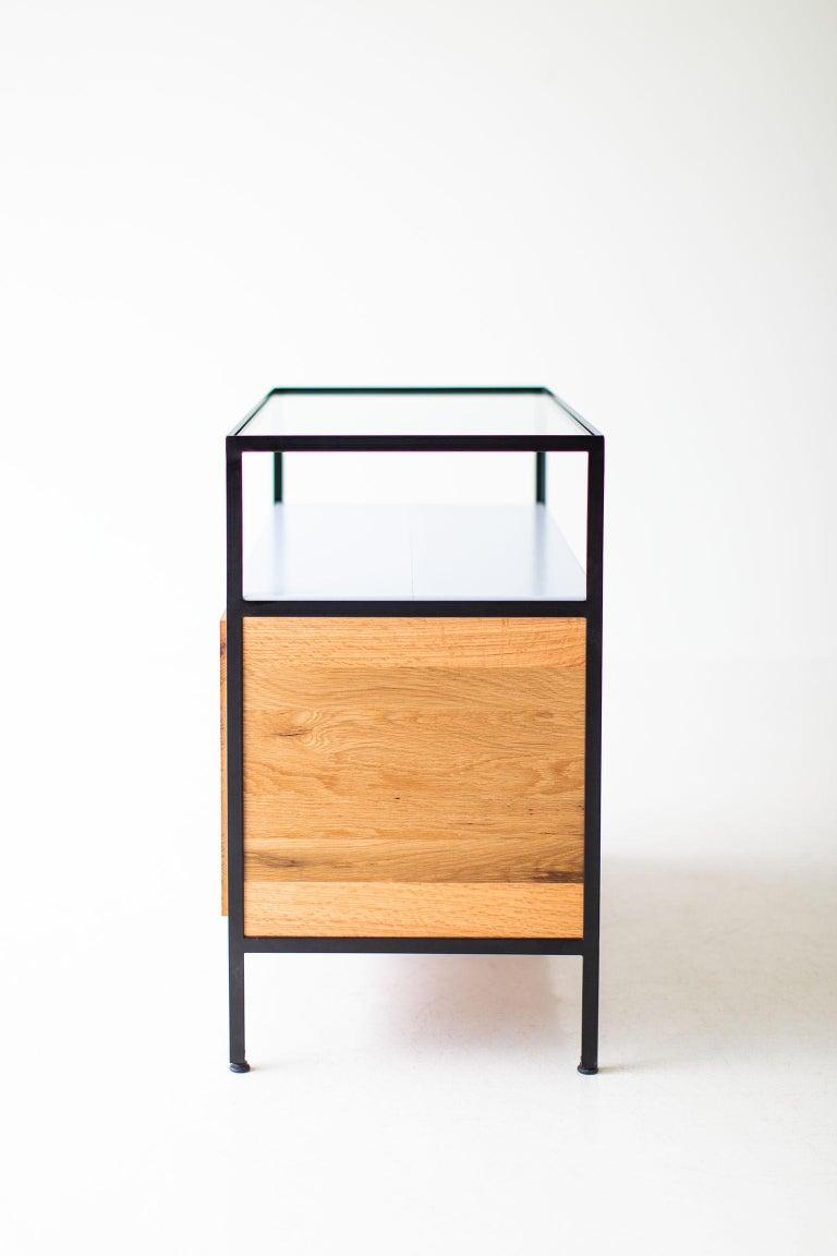 Modern Industrial Chest in Reclaimed Oak For Sale 3