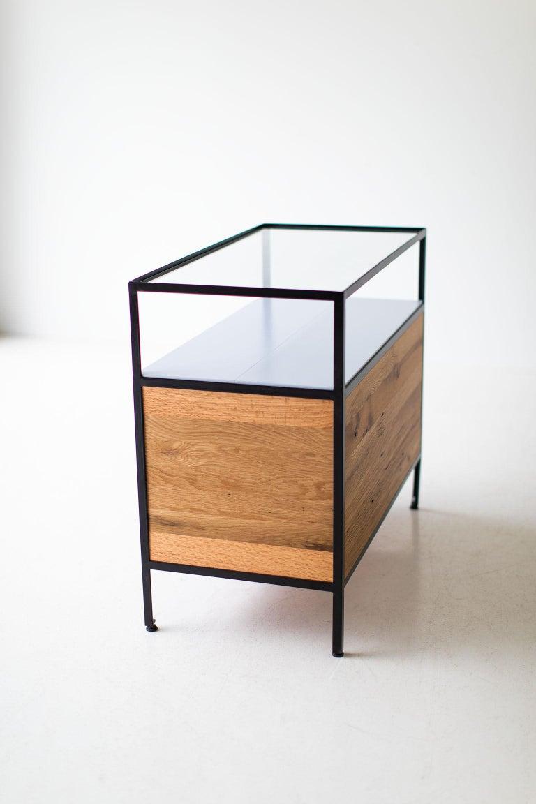 Modern Industrial Chest in Reclaimed Oak For Sale 4