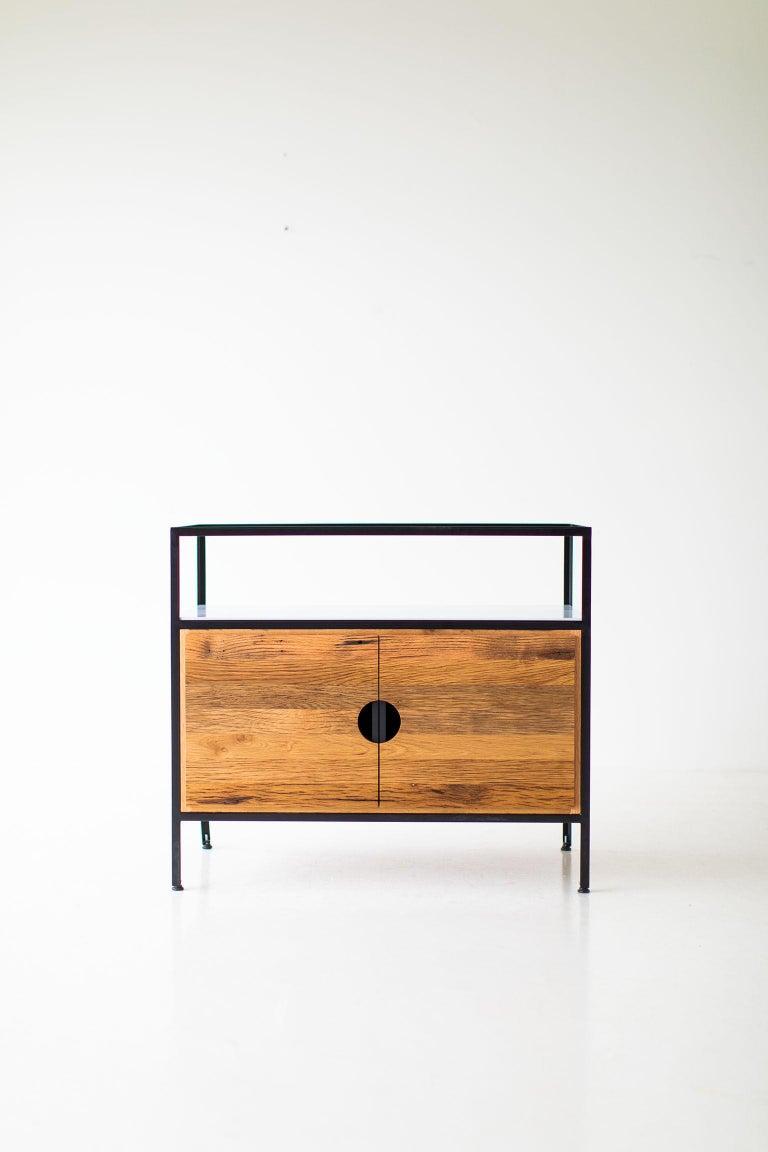 Mid-Century Modern Modern Industrial Chest in Reclaimed Oak For Sale