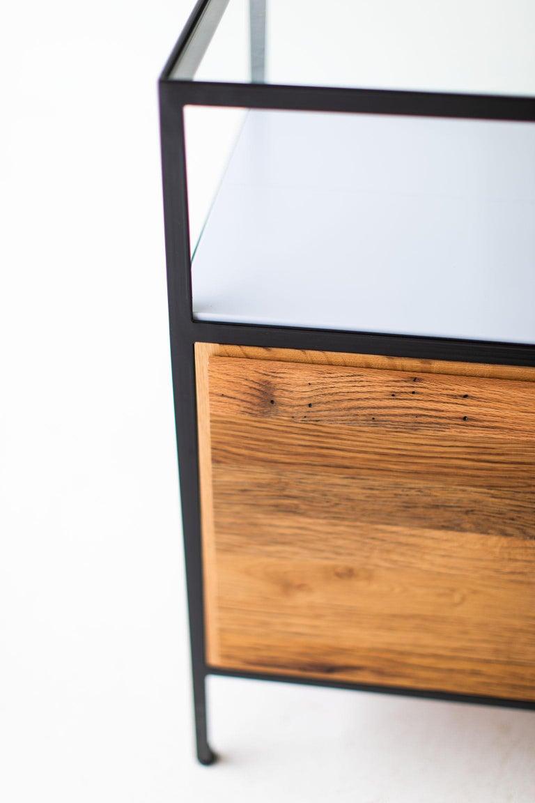 Modern Industrial Chest in Reclaimed Oak For Sale 2