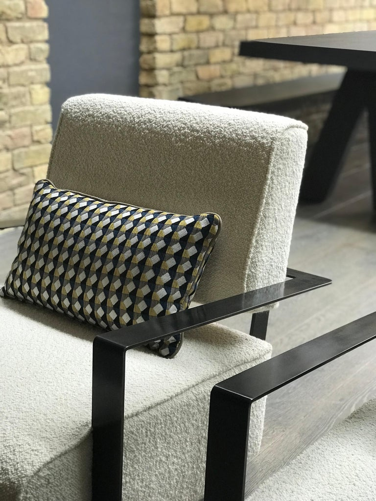 Modern Industrial Cronos II Armchair in Steel Structure In New Condition For Sale In London, GB