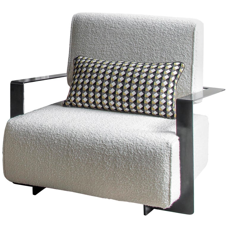 Modern Industrial Cronos II Armchair in Steel Structure For Sale