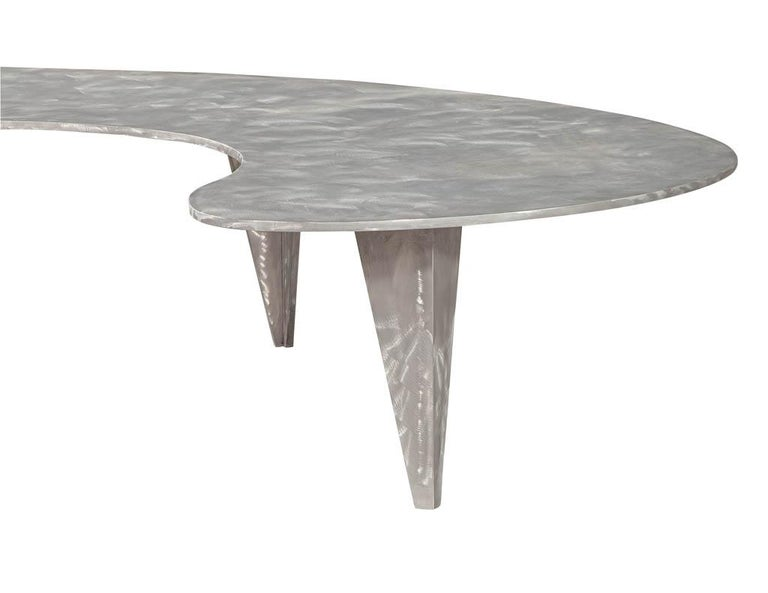 Modern Industrial Design Steel Two Piece Coffee Table Set For Sale 9