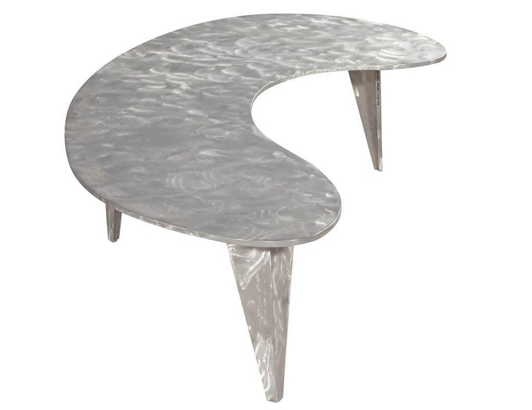 Modern Industrial Design Steel Two Piece Coffee Table Set For Sale 3