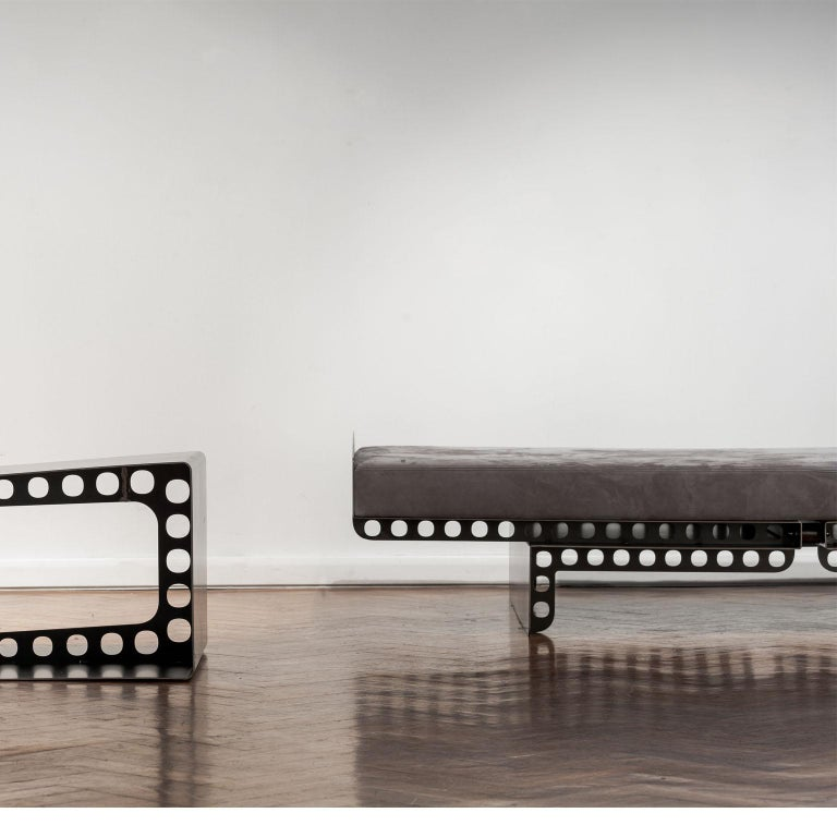 Modern Industrial Style Day Bed Meccano | Spinzi Design  For Sale 6
