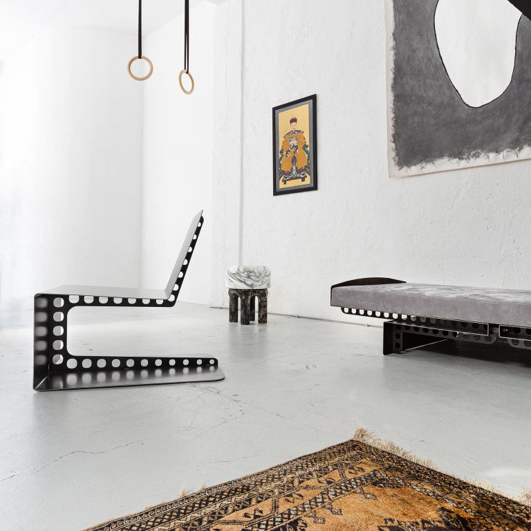 Contemporary Modern Industrial Style Day Bed Meccano | Spinzi Design  For Sale