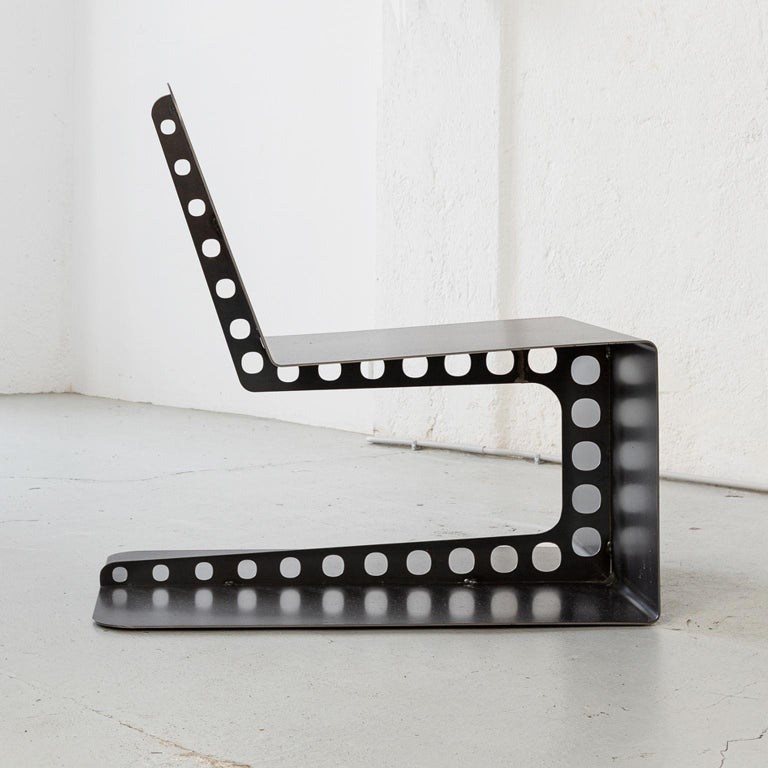 Contemporary Modern Industrial Style Lounge Chair Meccano For Sale