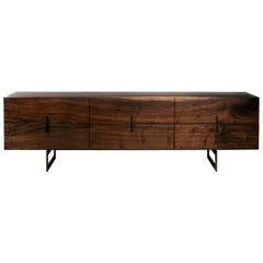 Modern Industry Long 6-Drawer Dresser in Oxidized Walnut