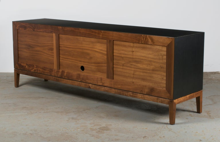Woodwork Modern Industry Taper Series Media Console with Doors and Drawers
