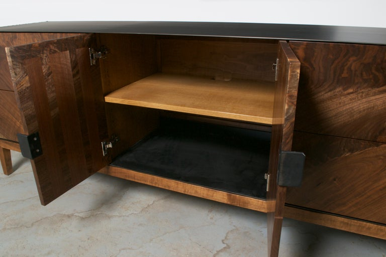 Steel Modern Industry Taper Series Media Console with Doors and Drawers