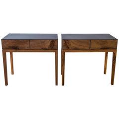 Modern Industry Taper Series Nightstand in Metal and Wood