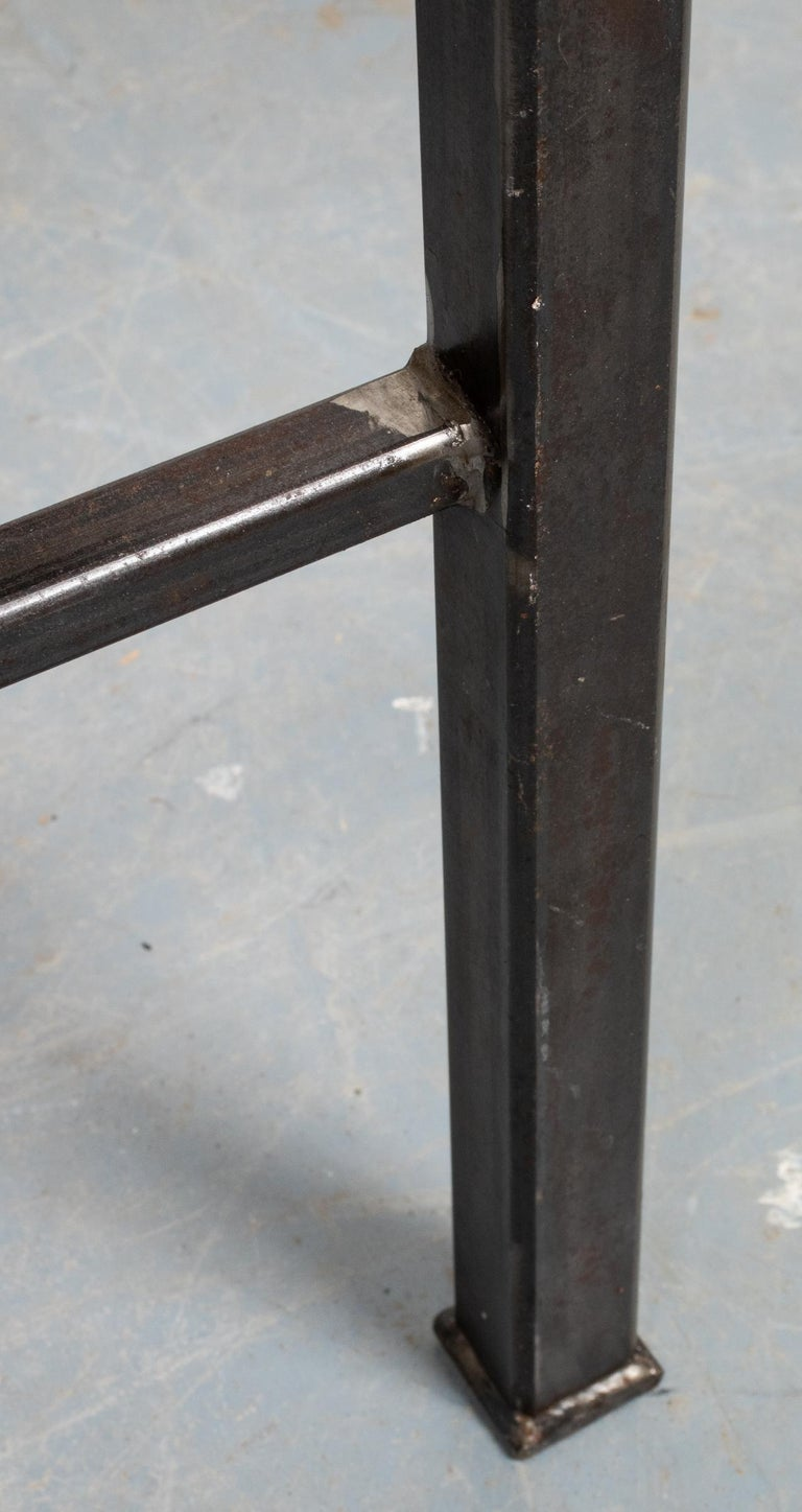 20th Century Modern Iron and Cast Stone Side Table For Sale