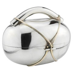 Modern Israeli Sterling Silver Etrog Container by Arie Ofir