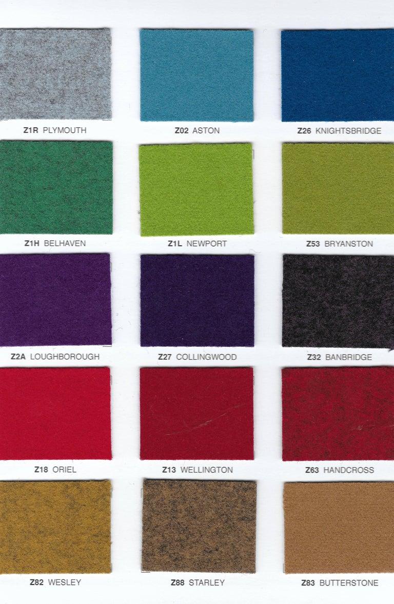 Modern Italian Bar Stool, Wood Legs, Felt or Leather Upholstery, Custom-Made For Sale 7