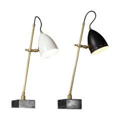 "Modern Italian Bedside or Desk Lamp in a Vintage Style Marble "" Sofia """