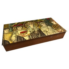 "Modern Italian Box ""Teodora"", Detail of Mosaic in Basilica di San Vitale"
