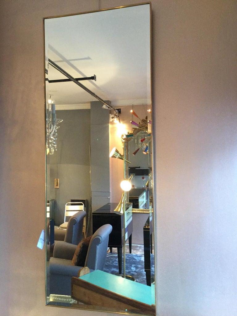 Mid-Century Modern Modern Italian Brass Mirror