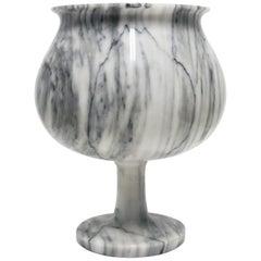 Modern Italian Carrara Marble Lamp by Designer Angelo Mangiarotti