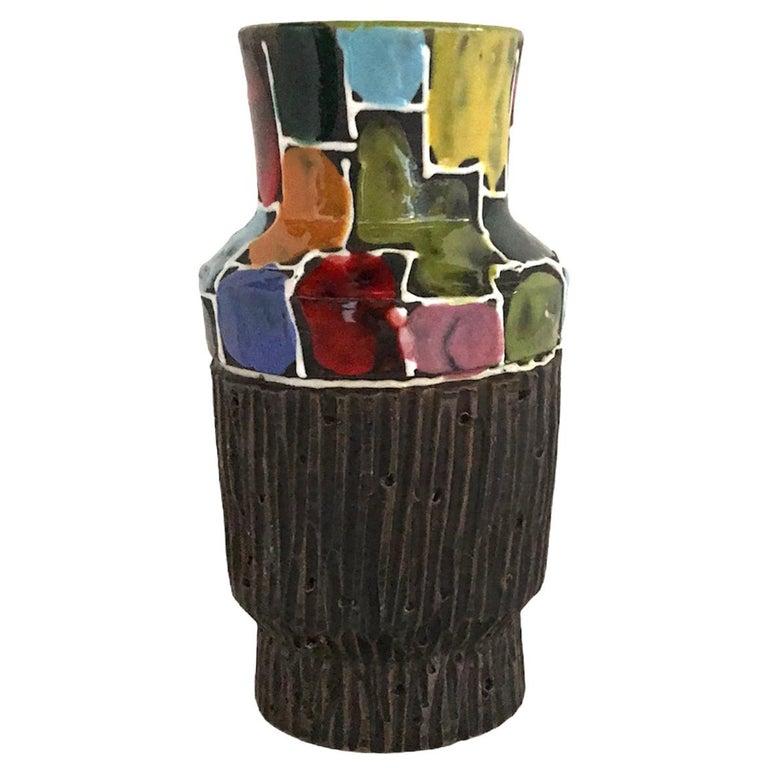Modern Italian Ceramic Vase by Fratelli Fanciullacci Bitossi, 1960s For Sale