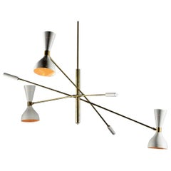 "Modern Italian Chandelier ""Amalia"" in the Style of Stilnovo"
