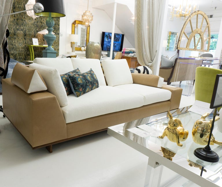 Modern Italian-inspired Leather Sofa